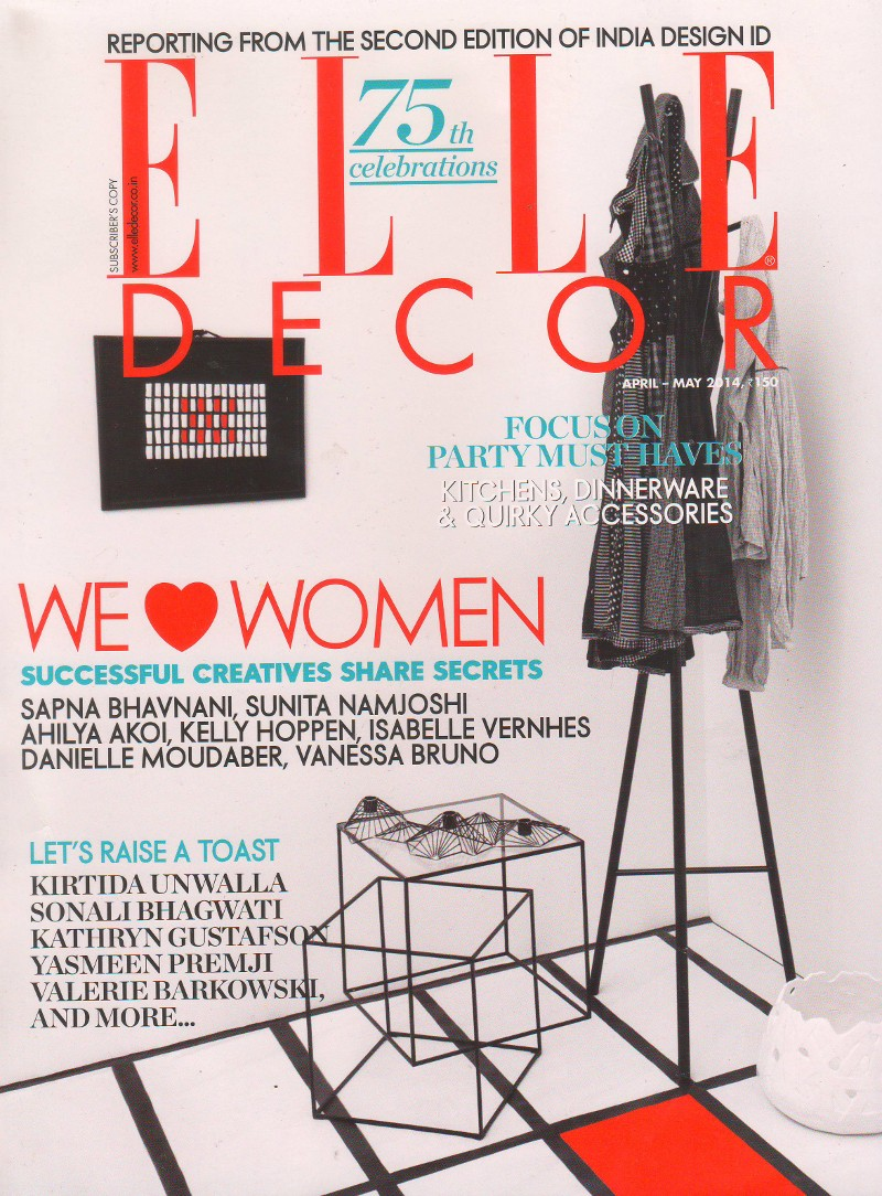 Elle decor india design exhibit odyssey abstractions for Elle decor india contact